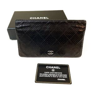 CHANEL CC Air Leather Wallet RARE